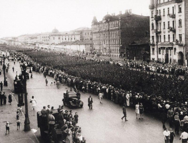 Марш немецких военнопленных в Москве, 17.07.1944