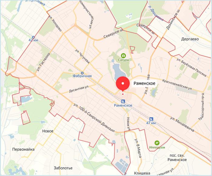 Станции пригородных электричек в Раменское