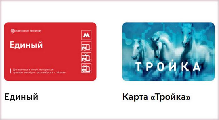 Транспортные карты для оплаты проезда