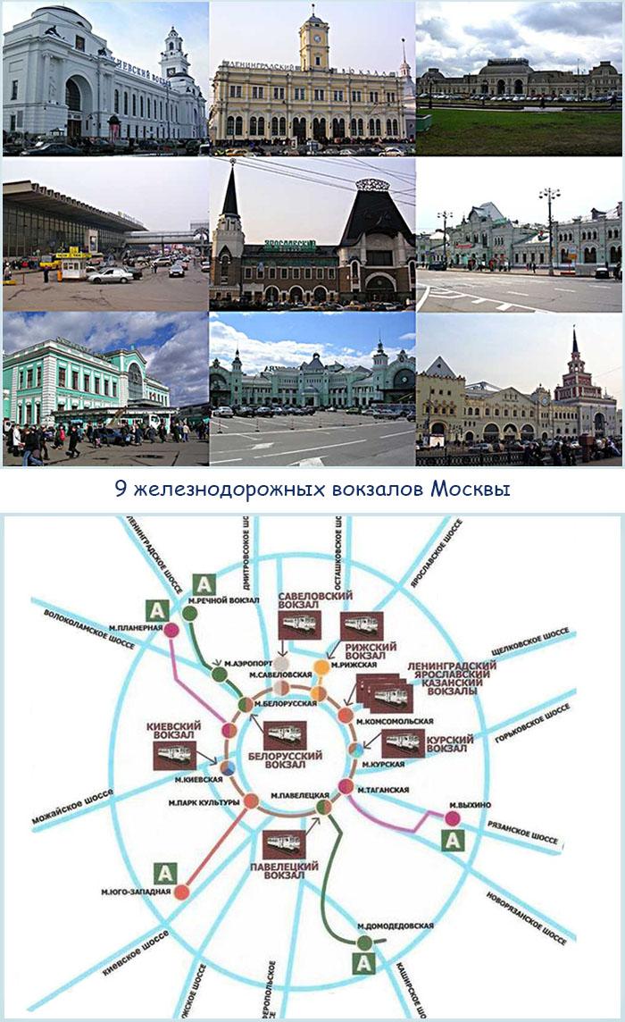 9 вокзалов Москвы