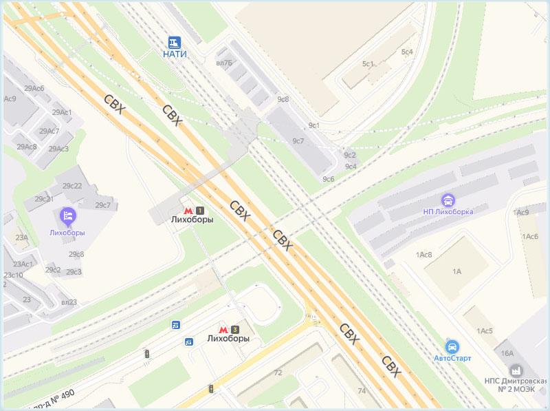 Платформа Нати и станция МЦК «Лихоборы»