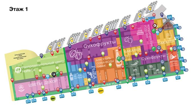 Карта Фуд Сити в Москве