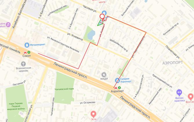 Ленинградский рынок на карте