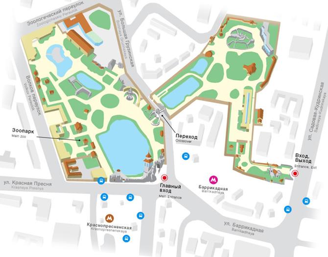 Карта-схема Московского зоопарка