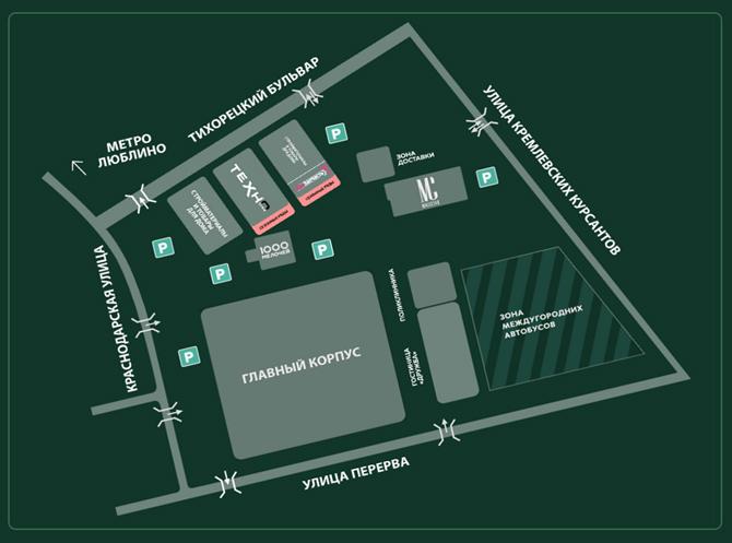 План-карта ТЯК Москва