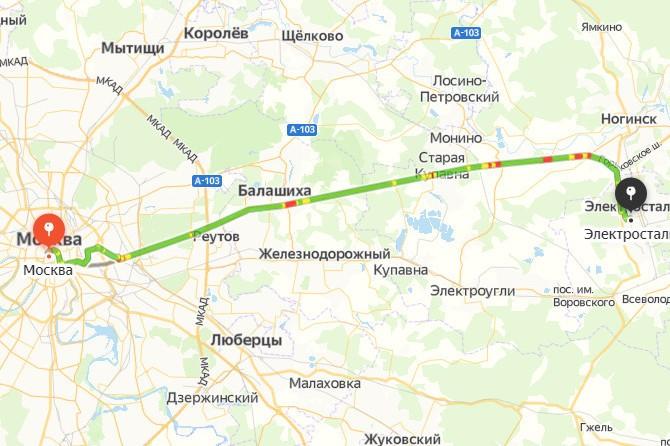 Москва-Электросталь