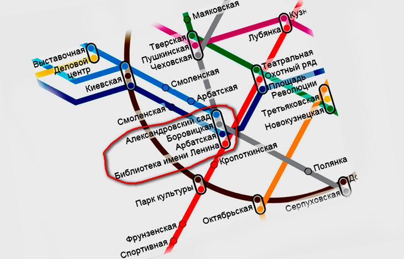 Станции метро у Кремля